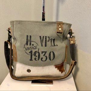 Handbags - Era 1930 Shoulder Crossbody Canvas Purse upcycled